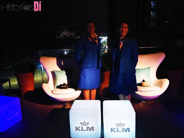 Stand da KLM com experiência de simulação do novo voo na Festa Glamurama