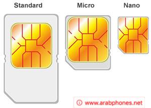 البطاقة او الشريحة SIM