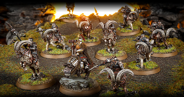 Forge World The Hobbit Battle Of The Five Armies Iron Hill Dwarf Goat Riders