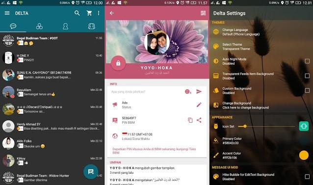 Download BBM Mod Delta V4.0.1a Apk Terbaru - Appk Android