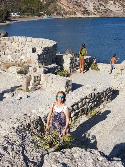 Überreste der Basilika am Strand von Agios Stefanos auf Kos