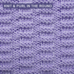 [Knit and Purl in the round] Easy pattern - Broken Rib stitch
