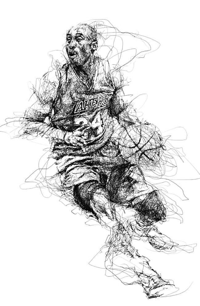 Vince Low (Malaysia) - NBA Basketball Art