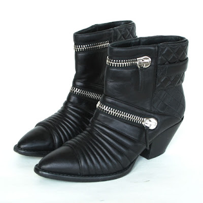 giuseppe zanotti quilted leather boots