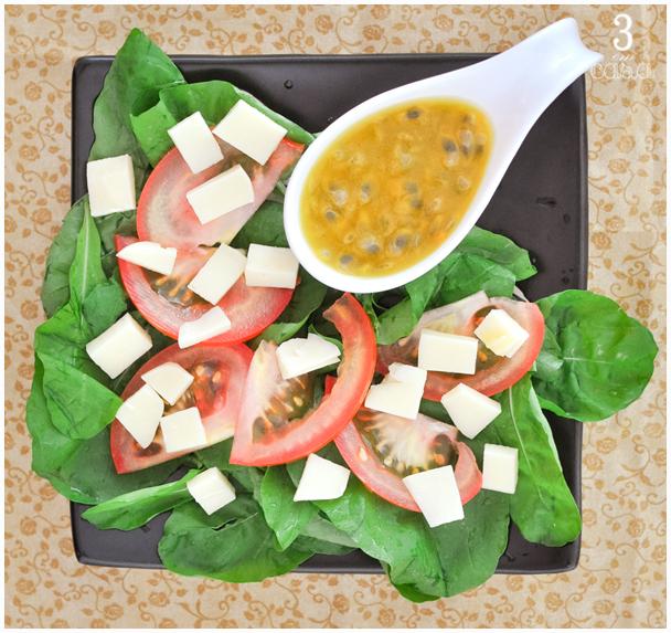 molho maracujá salada