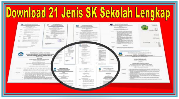 DOWNLOAD GRATIS 21 JENIS ANEKA SK SEKOLAH LENGKAP DENGAN KODE SURAT