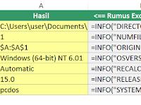 Cara Menggunakan Fungsi INFO di Microsoft Excel