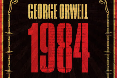 The cover of the paperback edition of George Orwell's 1984