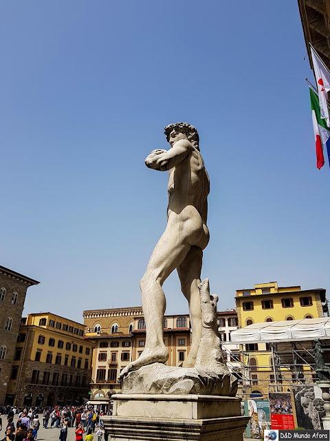 Estátua de Davi de Michelangelo na Piazza della Signoria - O que fazer em Florença, Itália - 40 atrativos