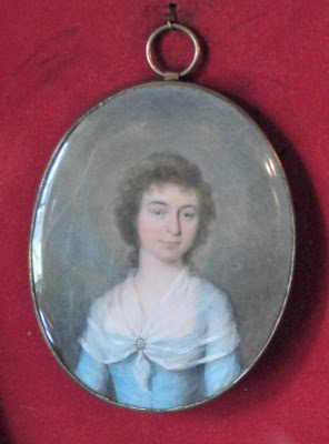 Miniature of Mary Parminter in the Dining Room, A la Ronde