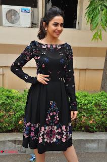 Actress Rakul Preet Singh Pictures in Short Dress at Sarrainodu Press Meet  0021