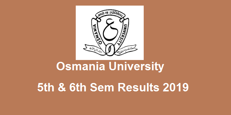 Manabadi OU Degree 5th 6th Sem Results 2019