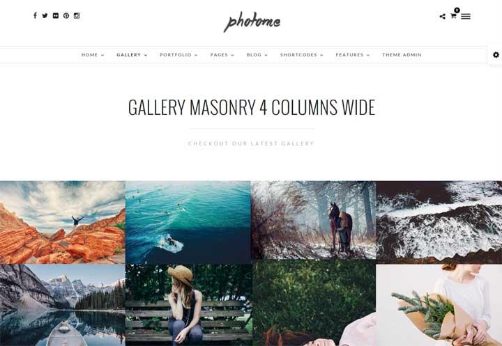 PhotoMe Gallery WordPress Theme