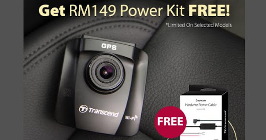 Transcend Bundles Power Kit With Its Selected DrivePro Dashcam For Lazada 1111 Online Revolution Sales