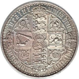 British Silver Coins Crown 1847