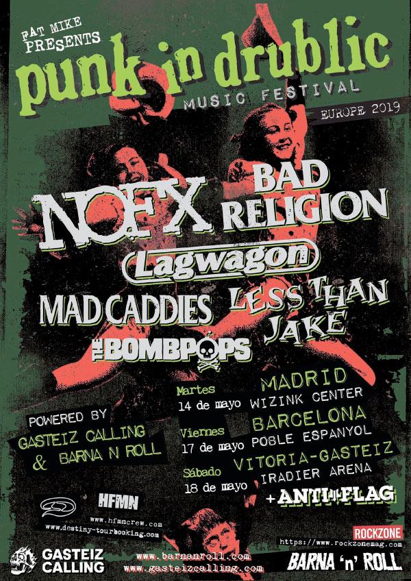 Punk In Drublic festival announce dates in Spain