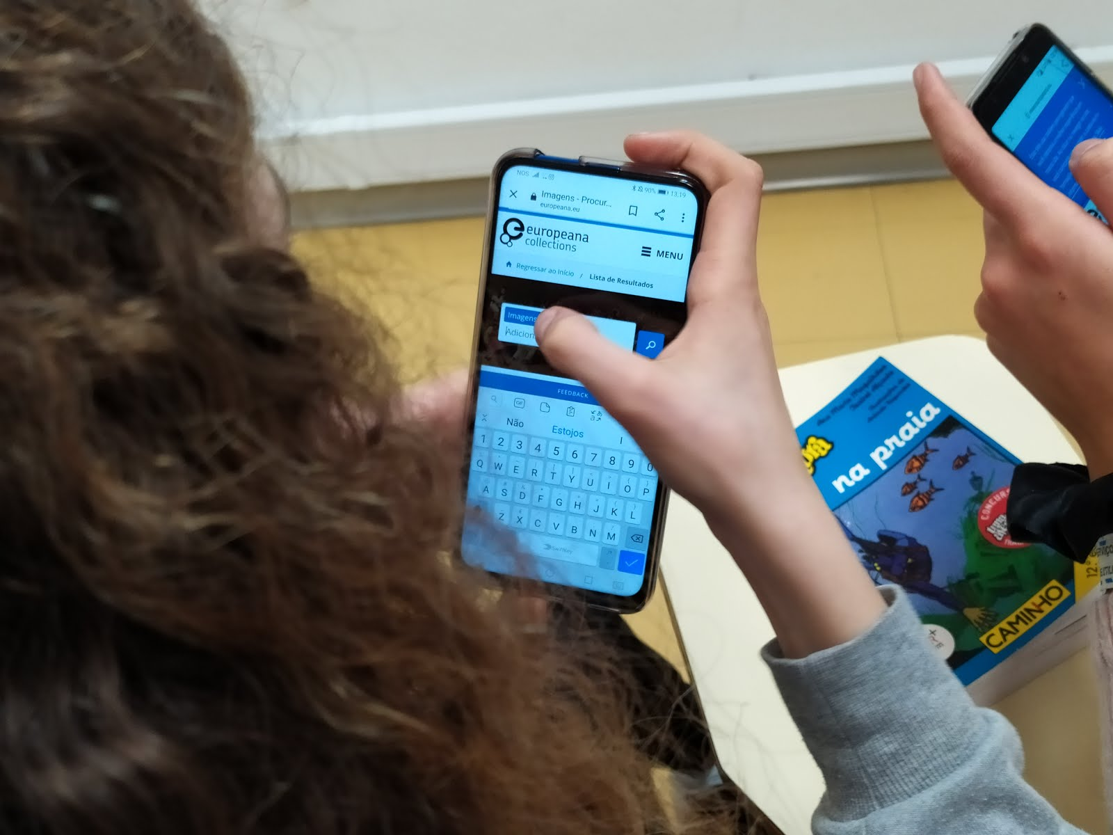 Using Europeana on mobile devices in class