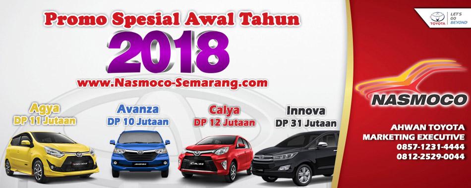 Beli Sekarang Ada Kredit Murah DP Avanza Rp 15 Jutaan, Calya Rp 17 Jutaan, Agya Rp  15 Jutaan, Innova Rp 45 Jutaan. Nasmoco Toyota Semarang.