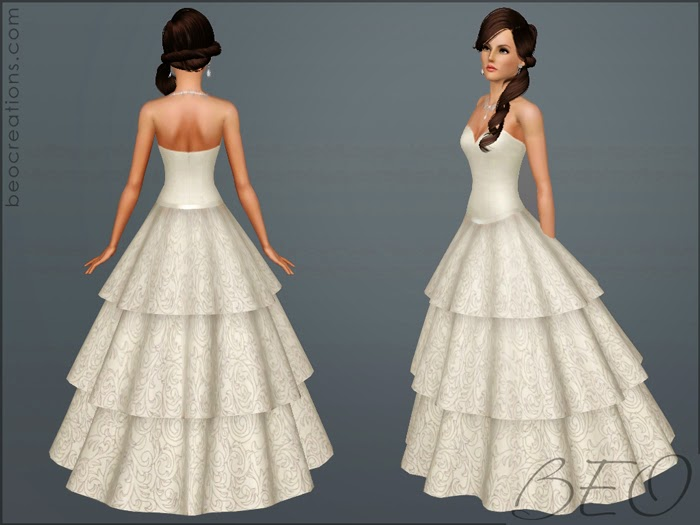 My Sims 3 Blog: Wedding Dress 21 By BEO