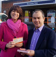 Claire Perry MP and Paul Scully MP at Worcester Park station