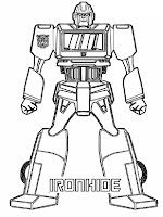 Iron Hide Transformer Coloring Pages