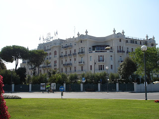 The Grand Hotel on the seafront at Rimini