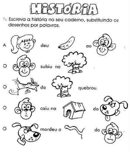 45 Atividades Exercícios De Alfabetização Para Imprimir Portal Escola