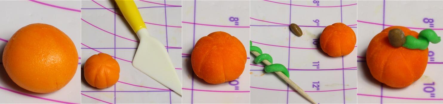 Gartentorte - Gardencake Anleitung Fondant Kürbis - pumpkin