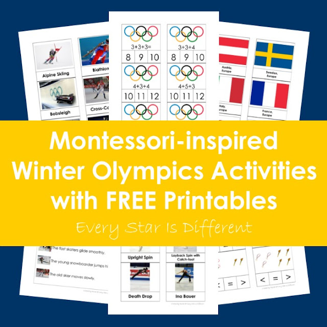 Montessori-inspired Winter Olympics Activities with Free Printables