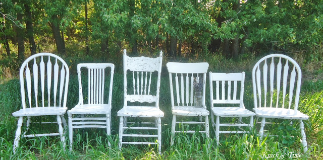 I Repainted A Bunch Of Mismatched Chairs To Go Around Our Kitchen Table There S One For Each Size Member Family