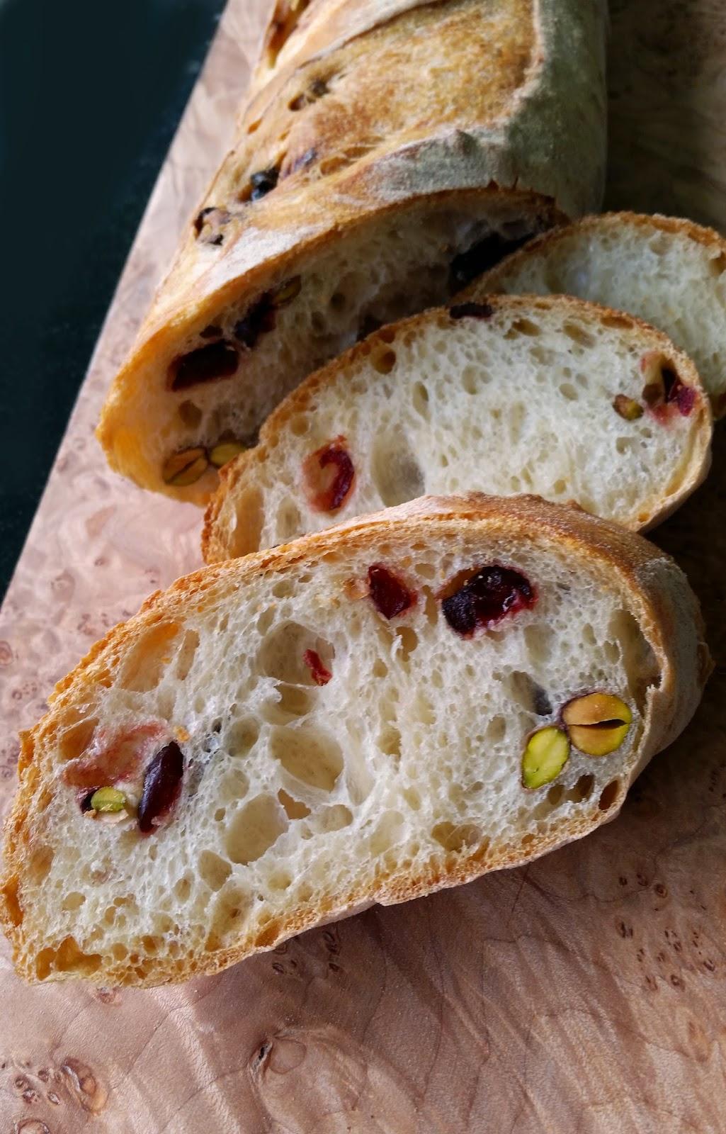 Thibeault S Table Cranberry And Pistachio Baguettes
