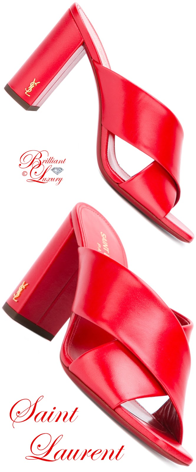 Brilliant Luxury ♦ Saint Laurent LouLou Mules