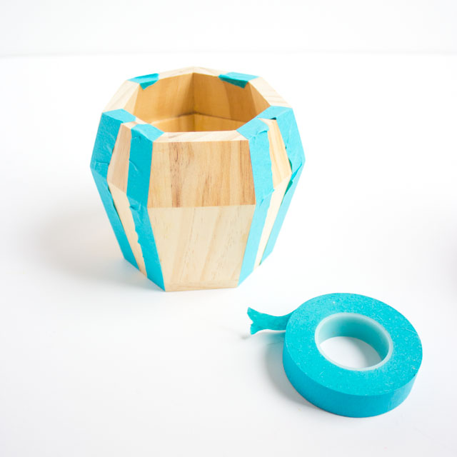 Love these geometric wood pots from the Kid Made Modern line at Target!