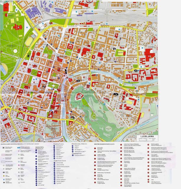 Mapa da cidade de Liubliana – Eslovênia
