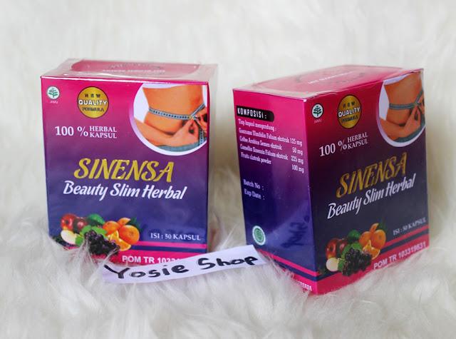 Sinensa Beauty Slim Herbal (BSH) - Suplemen Pelangsing dan Pemutih Badan BPOM