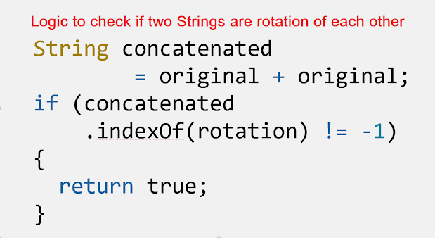 String Rotation in Java - Write a Program to check if strings are rotations of each other or not