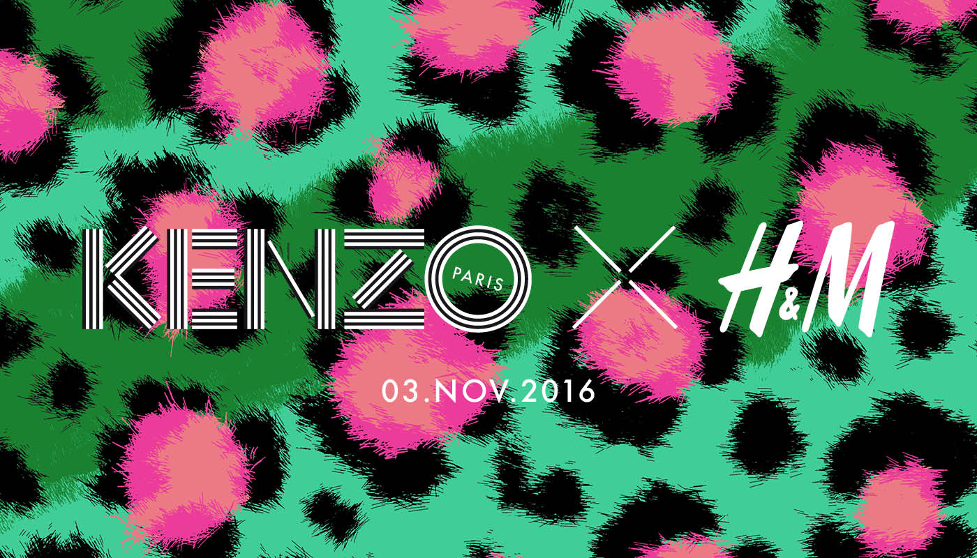 Kenzo and H&M collaboration banner