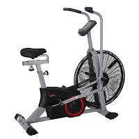 "Sunny Health & Fitness SF-B2706 Tornado Air Bike, fan exercise bike, with 25"" flywheel, air resistance, 4-way adjustable seat, ergonomic handlebars"