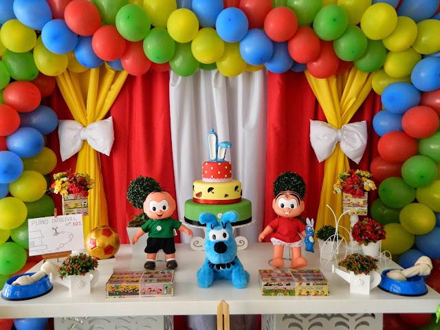 Tema Festa Infantil Turma da Mônica