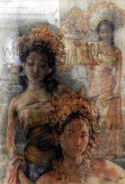 Tiga Gadis Bali karya William Gerard Hofker
