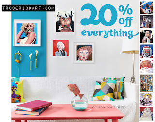Coupon Code GET20 save on everything at troderickart