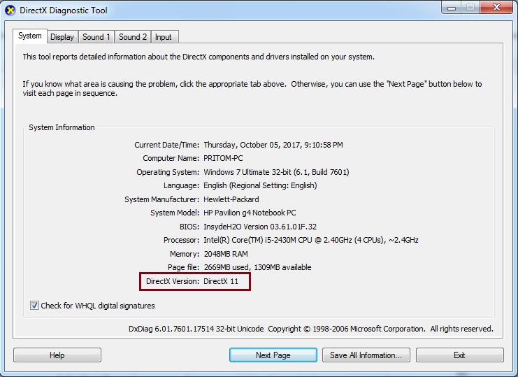 Code Samples Ensure Directx 9 0c Or Higher Is Installed