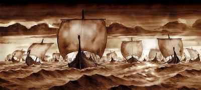 La temible flota de Drakkars vikingos