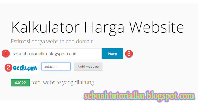 Cara Cek Harga Blog Website
