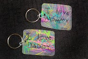 Personalized Shrinky Dink Keychains