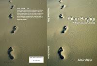 Üzerinde bir kumsaldaki ayak izlerinin bir resmi olan kitap kapağı örneği