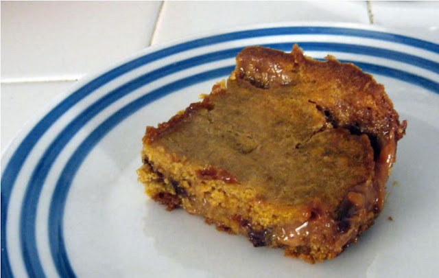 Caramel Pumpkin Blondies by freshfromthe.com