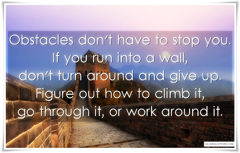 Obstacles Don't Have To Stop You