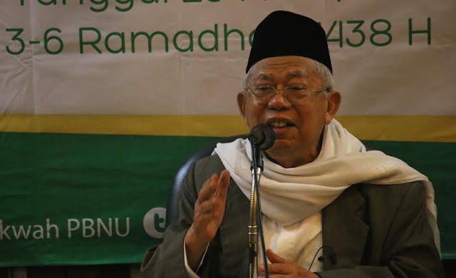 KH Ma'ruf Amin: Dakwah NU itu Hindari Benturan antar Kelompok, tidak Seperti yang Lain