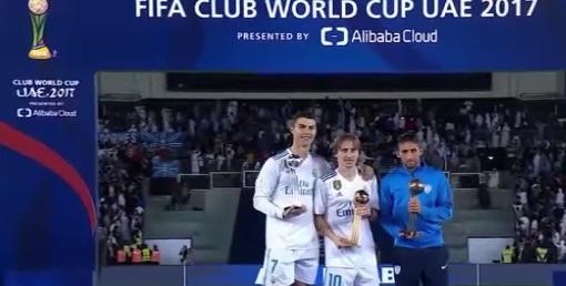 لوكا مودريتش يفوز بـ كرة Adidas الذهبية ..رونالدو يحصل على الفضية